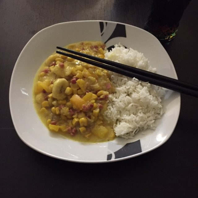 Bananen-Curry-Reis